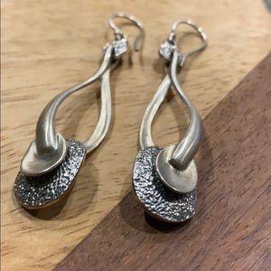 Silpada  Satin Twist Teardrop Disc Earrings